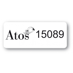 customized reinforced polyethylene asset label atos reference number en