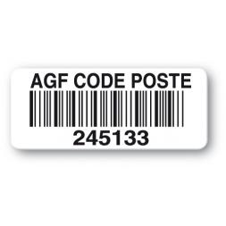 etiquette polypropylene agf code poste code barre