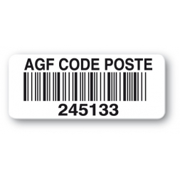 customized reinforced polyethylene asset label agf code poste barcode en