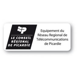 etiquette polypropylene logo noir conseil regional picardie