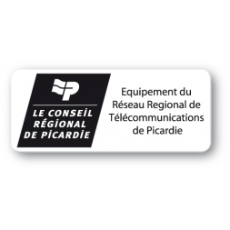 customized black polyethylene asset label conseil general logo en