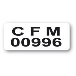 customized reinforced polyethylene asset label cfm reference number en
