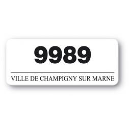 etiquette polypropylene ville de champigny sur marne reference