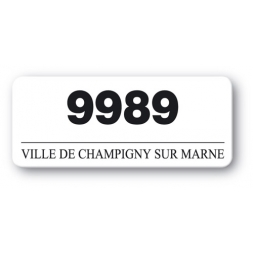 customized polyethylene asset label champigny sur marne reference number en