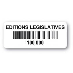 etiquette polypropylene editions legislatives code barre