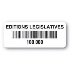 customized reinforced polyethylene asset label editions legislatives barcode en