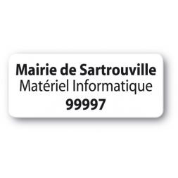 etiquette polypropylene mairie de sartrouville