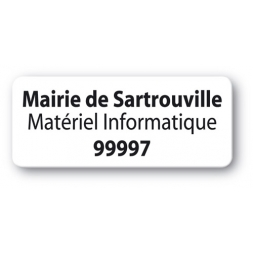 customized reinforced polyethylene asset label mairie sartrouville