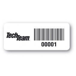 reinforced polyethylene asset label tech team barcode