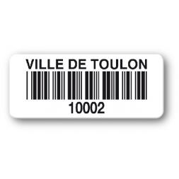 reinforced polyethylene asset label ville de toulon barcode
