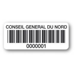 etiquette polypropylene conseil general du nord code barre