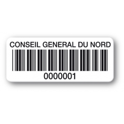 reinforced polyethylene asset label conseil general du nord barcode