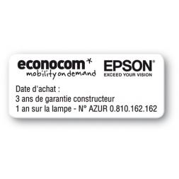 reinforced black print polyethylene asset label epson econocom reference