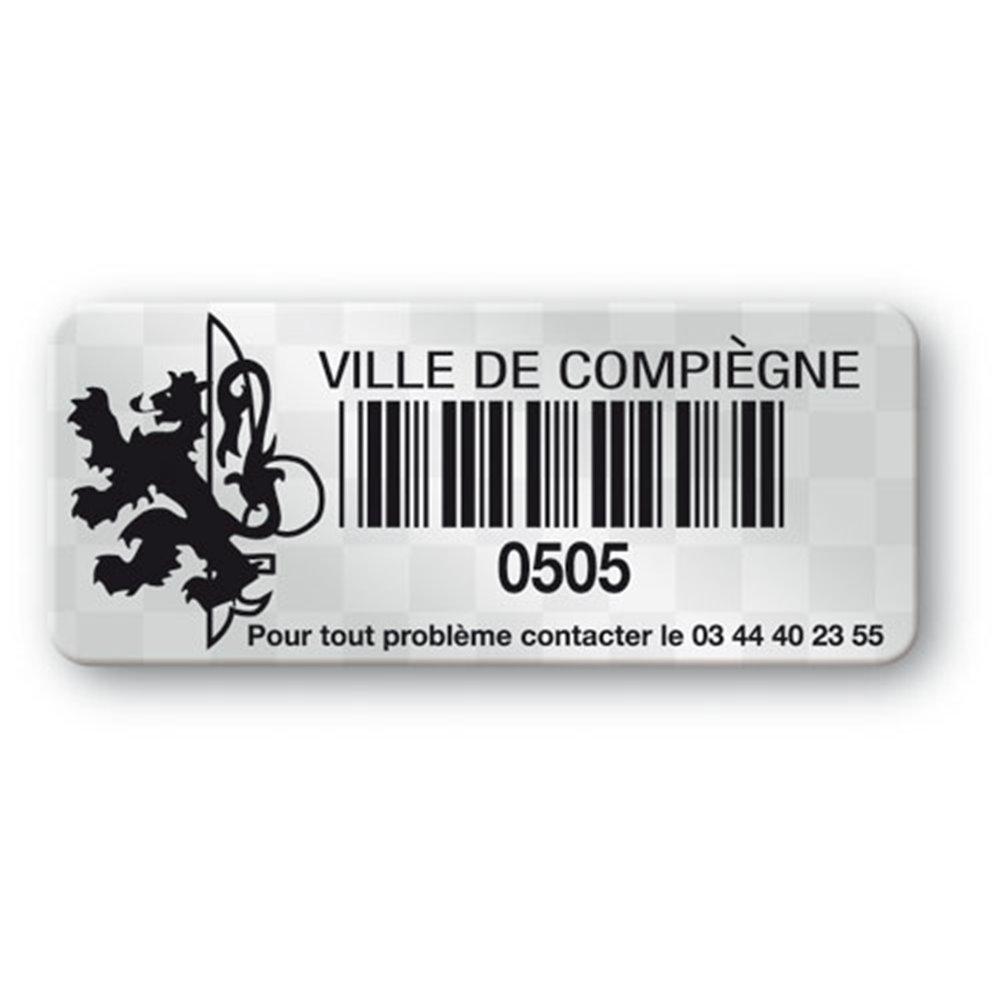 void asset label black print logo ville de compiegne barcode en