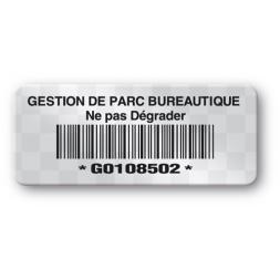 void asset label gestion de parc bureautique barcode