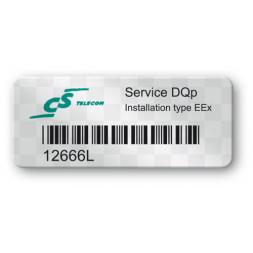 void asset label telcon logo barcode en
