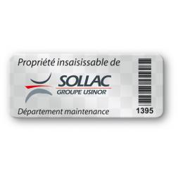 void asset label sollac logo barcode en