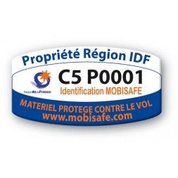 custom mobisafe antitheft label idf region property