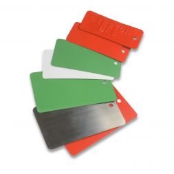 lacquered steel printed identification tag different colors en