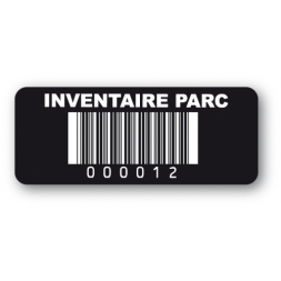 etiquette infalsifiable noire inventaire parc code barre