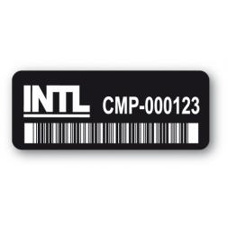 etiquette ultra desctructible noire intl code barre