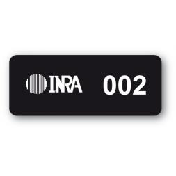 etiquette ultra destructible securisee noire inra logo reference