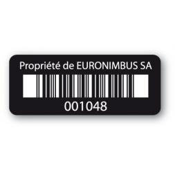 etiquette infalsifiable noire euronimbus codebarre