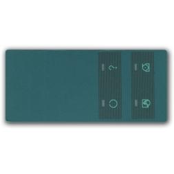 face avant et tableau de bord polycarbonate couleur verte fr