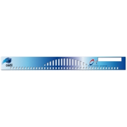 face avant et tableau de bord polycarbonate blue ruler format