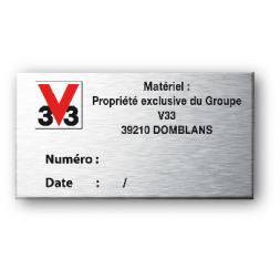 Plaque de firme aluminium 3M rigide 0.5mm anodisée couleur