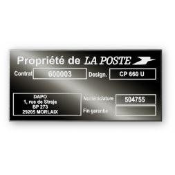 plaque noire constructeur aluminium personnalisee la poste