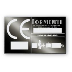 solid aluminium anodized laser engraving personnalised formenti en