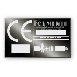 plaque noire de firme aluminiumpersonnalisee formenti