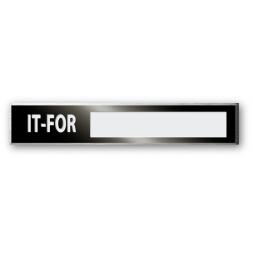 plaque noire de firme aluminium tres haute qualite