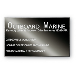 solid aluminium anodized laser engraving personnalised montage outboard marine en