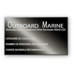 plaque noire de firme aluminium personnalisee outboard marine