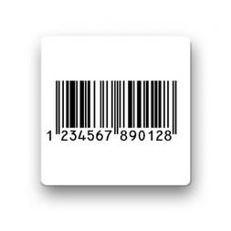 etiquette antivol radio frequence vierge barcode en