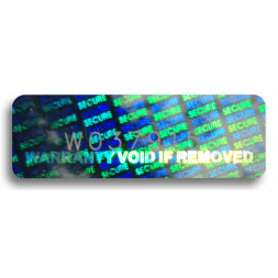 micro text on tamper proof security hologram en