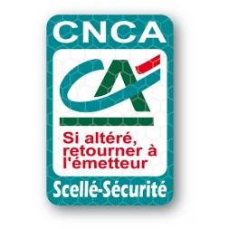 etiquette scelle securite ultrafin personnalise credit agricole