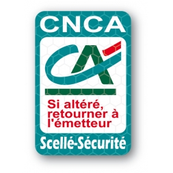 scelle securite ultrafin personnalise credit agricole