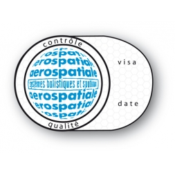 custom tamper evident security seal aerospatiale circle form