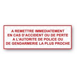 custom tamper evident security seal police gendarmerie en