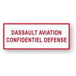 custom tamper evident security seal dassault aviation en