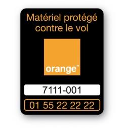 marquage antivol logo orange