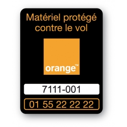 orange laptop security tag en