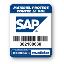 sap laptop security tag barcode en