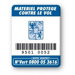 marquage antivol logo oxford code barre