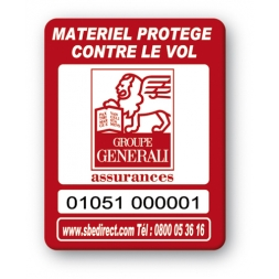 red security tag with logo reference en