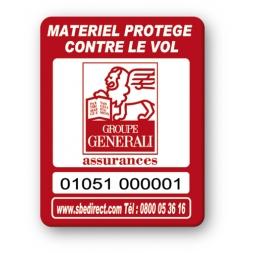 marquage antivol rouge logo reference