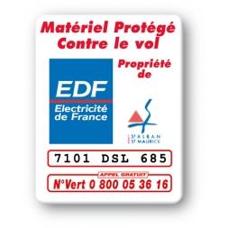 marquage antivol personnalisee logo edf reference